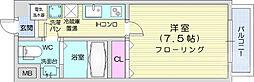 仙台市地下鉄東西線 川内駅 徒歩21分の賃貸マンション 3階1Kの間取り