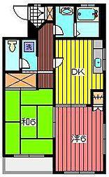 ビラ284[3階]の間取り
