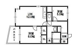 コアWing青山[9階]の間取り