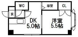 ピュアコート南郷[407号室]の間取り
