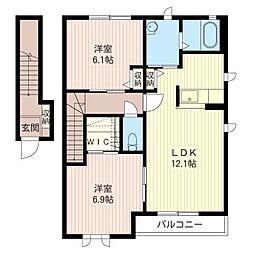Casa Soleado C[2階]の間取り