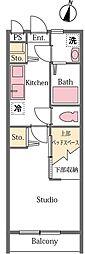 埼玉県比企郡滑川町月の輪7丁目の賃貸アパートの間取り
