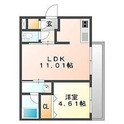 北海道札幌市東区北十七条東10丁目の賃貸マンションの間取り