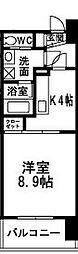 エクシード田町[807号室]の間取り