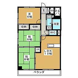 二日町島田ビル[11階]の間取り