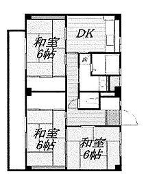 神奈川県横浜市瀬谷区阿久和西4丁目の賃貸マンションの間取り
