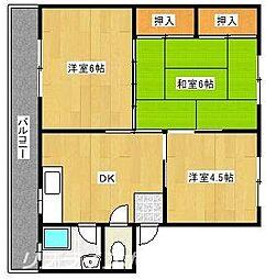 第2森マンション[1階]の間取り