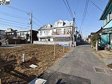 接道状況および現場風景 国分寺市東恋ヶ窪6丁目
