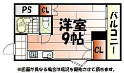 K-2西小倉ビル[6階]の間取り
