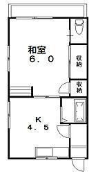寿荘[1階]の間取り