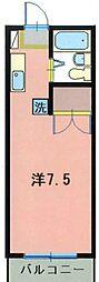 コーポ紫苑[1階]の間取り