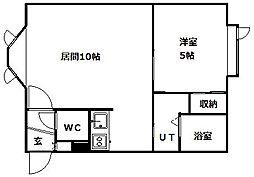 北海道札幌市南区南三十四条西8丁目の賃貸アパートの間取り