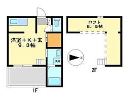 愛知県名古屋市中村区本陣通5の賃貸アパートの間取り