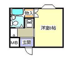 シャルム山村[3階]の間取り