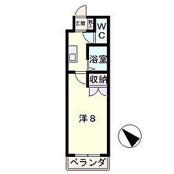 エスポワ−ルNAKAJIMA[3階]の間取り