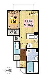 D−room陵厳寺[105号室]の間取り
