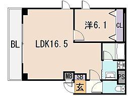 シビック本町[4階]の間取り