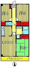 木崎台マンション[3階]の間取り
