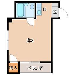コーポホワイト南出島A棟[1階]の間取り