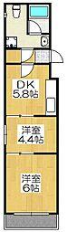 DS LIBRA[403号室]の間取り
