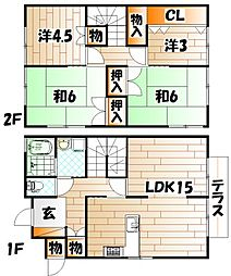 [一戸建] 福岡県北九州市小倉北区熊谷4丁目 の賃貸【/】の間取り