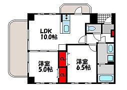 ペンディーオ小笹[1階]の間取り