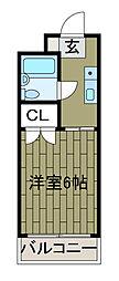 シャンプル井上[3階]の間取り
