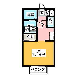 ラフォーレ萩原[1階]の間取り