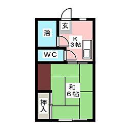 川本アパート[2階]の間取り