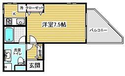 ランドアート神戸[3階]の間取り