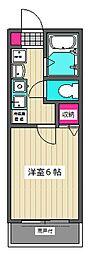 東京都大田区西糀谷2丁目の賃貸アパートの間取り