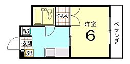 ハイツ北野[305号室]の間取り