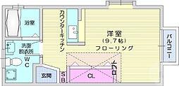 仙台市営南北線 長町南駅 徒歩31分の賃貸アパート 2階ワンルームの間取り