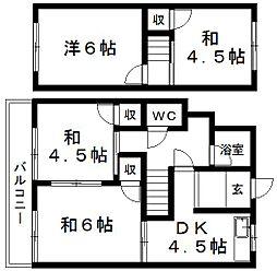 [テラスハウス] 静岡県浜松市中区上島3丁目 の賃貸【静岡県 / 浜松市中区】の間取り