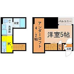IL Mago Tsurumai[202号室]の間取り