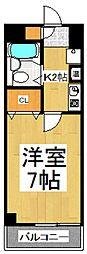 第二アビタシオン浅倉[5階]の間取り