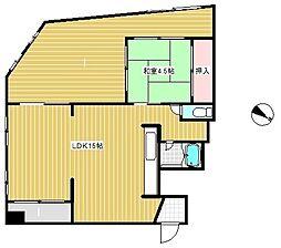 湊川センタービルB棟[4階]の間取り