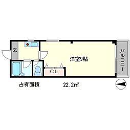 コーポシロー[4階]の間取り