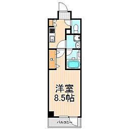 東京都台東区浅草5丁目の賃貸マンションの間取り