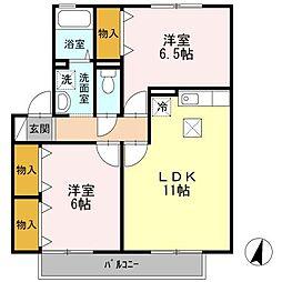 サンライズ豊A棟[1階]の間取り