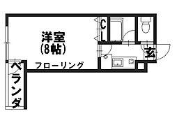 エレガンス岡崎[306号室]の間取り