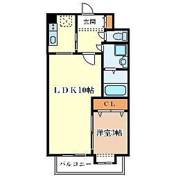 エールリベルテ大阪ウエスト[9階]の間取り