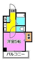 東京都東久留米市大門町1の賃貸マンションの間取り