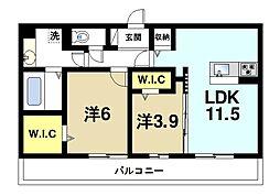 (仮称)奈良市五条畑ハイツ[2階]の間取り