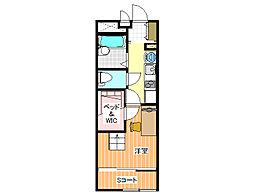 レオパレスエイト[2階]の間取り