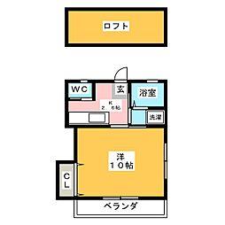 サクシード337[2階]の間取り