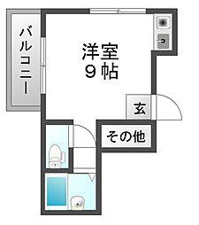 スクーデリア立花[4階]の間取り