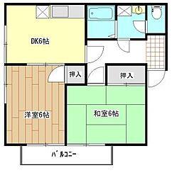 エスポワール九反田[2階]の間取り