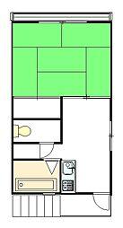 晋荘[2階部分号室]の間取り
