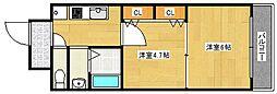 グランパシフィックパークビュー[9階]の間取り